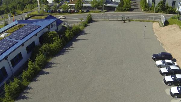 Tiefbau Suhl Parkfläche Autohaus BMW
